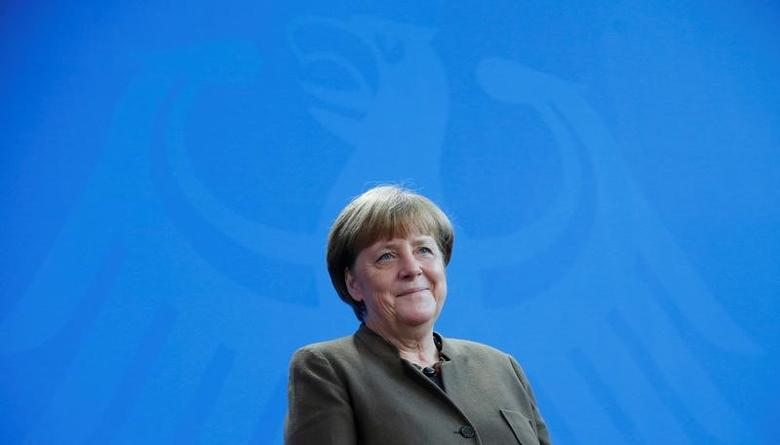 German Chancellor Angela Merkel in Berlin, Germany February 10, 2017. REUTERS/Hannibal Hanschke