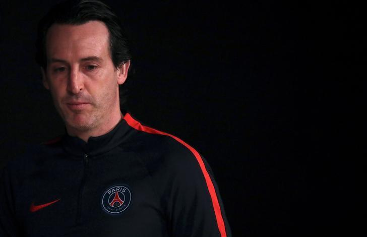 Football Soccer - Paris St Germain v FC Barcelona - UEFA Champions League - Parc des Princes stadium, Paris, France - 13/2/17.  Paris St Germain coach Unai Emery attends a news conference.  REUTERS/Christian Hartmann