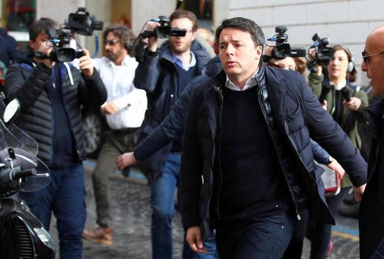 Former Italian Prime Minister Matteo Renzi arrives at a meeting of the ruling Democratic Party in Rome, Italy February 13, 2017. REUTERS/Alessandro Bianchi