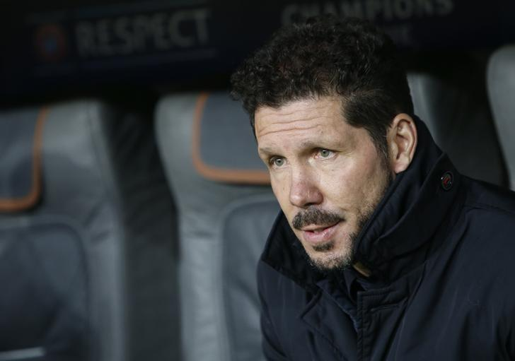 Football Soccer - Bayern Munich v Atletico Madrid - UEFA Champions League Group Stage - Group D - Allianz Arena, Munich, Germany - 06/12/16 - Atletico Madrid's coach Diego Simeone before the match. REUTERS/Michaela Rehle/File Photo