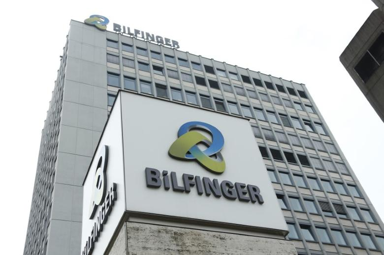 The logo of German industrial services provider Bilfinger is pictured outside its headquarters in Mannheim, Germany, May 11, 2016.    REUTERS/Ralph Orlowski