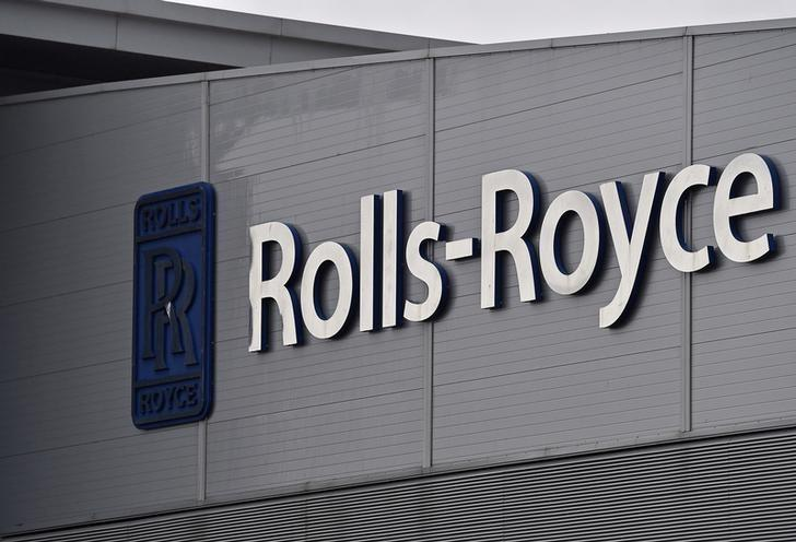 A Rolls-Royce logo is seen at the company's aerospace engineering and development site in Bristol, Britain, December 17, 2015.  REUTERS/Toby Melville/Files