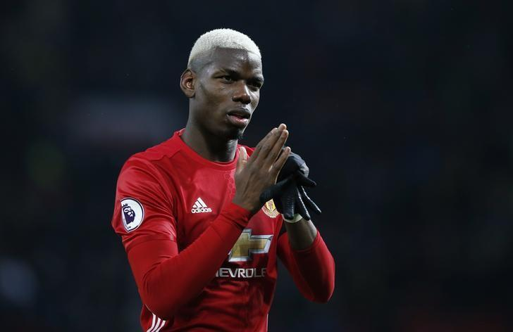 Britain Soccer Football - Manchester United v Watford - Premier League - Old Trafford - 11/2/17 Manchester United's Paul Pogba applauds fans after the game  Reuters / Andrew Yates Livepic