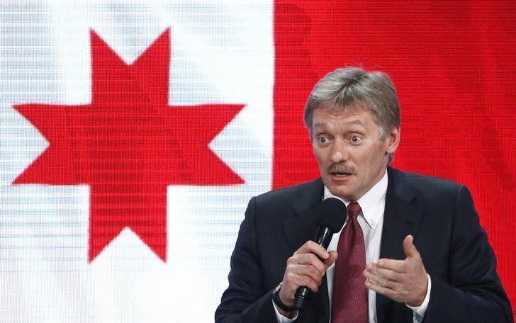 Kremlin spokesman Dmitry Peskov speaks during the annual end-of-year news conference of Russian President Vladimir Putin in Moscow, Russia, December 23, 2016.  REUTERS/Sergei Karpukhin/Files