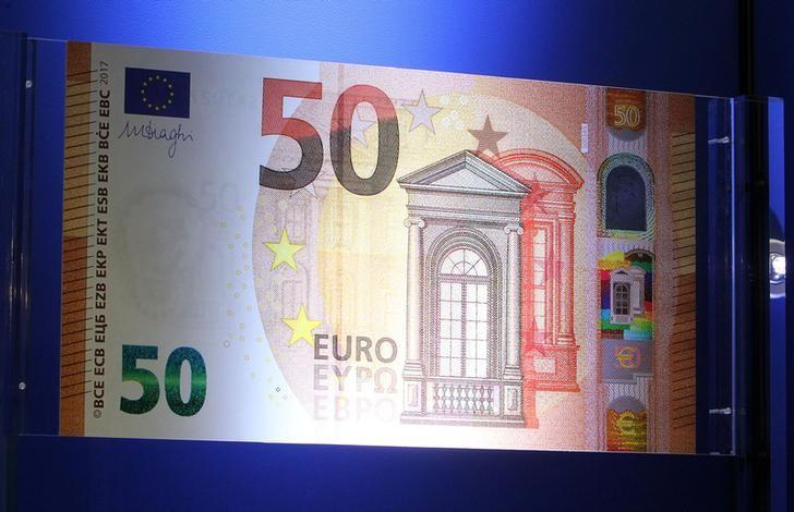The European Central Bank (ECB) presents the new 50 euro note at the bank's headquarters in Frankfurt, Germany, July 5, 2016.  REUTERS/Ralph Orlowski/Files