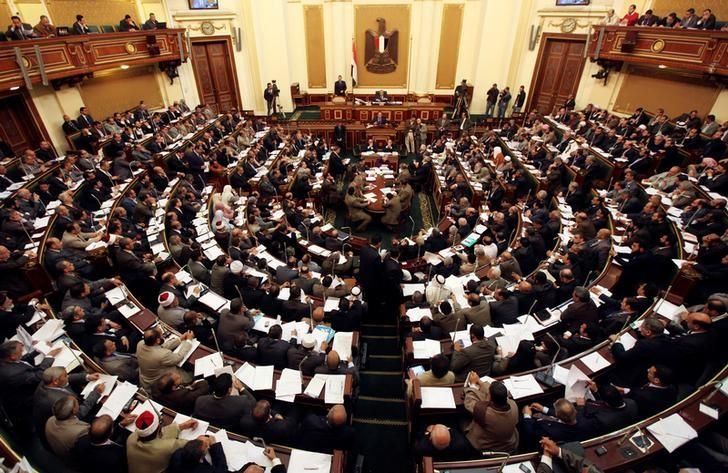 Members of the Egyptian parliament attend a session at Egypt's parliament in Cairo February 26, 2012. REUTERS/Amr Abdallah Dalsh/File Photo