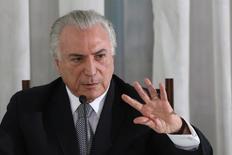 Temer durante evento em Brasília.  22/12/2016. REUTERS/Adriano Machado