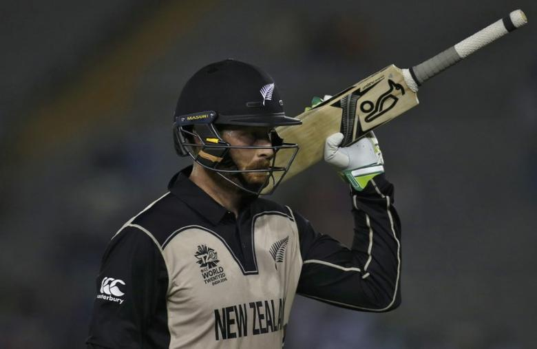 Cricket - New Zealand v Pakistan - World Twenty20 cricket tournament - Mohali, India, 22/03/2016. New Zealand's Martin Guptill walks off the field after his dismissal. REUTERS/Adnan Abidi  Picture Supplied by Action Images