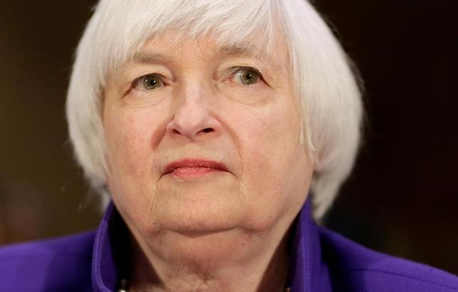 Federal Reserve Chair Janet Yellen  on Capitol Hill in Washington, U.S., February 14, 2017.      REUTERS/Joshua Roberts