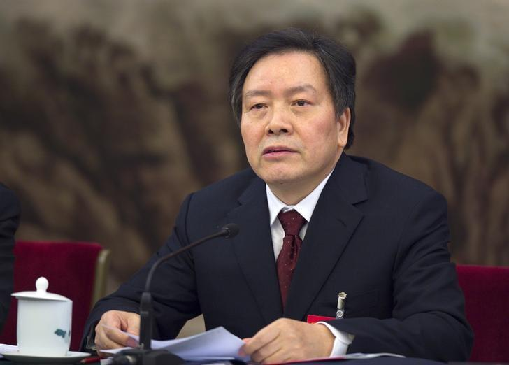 Former Communist Party Secretary of Hebei province Zhou Benshun speaks at a session of the National People's Congress (NPC) in Beijing, China, in this March 7, 2015 picture.      REUTERS/Stringer/Files