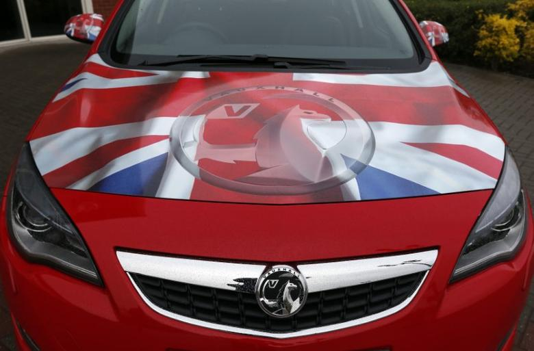 A Vauxhall Astra Sports Tourer is parked outside the Vauxhall plant, before a news conference, in Ellesmere Port, northern England May 17, 2012.    REUTERS/Phil Noble