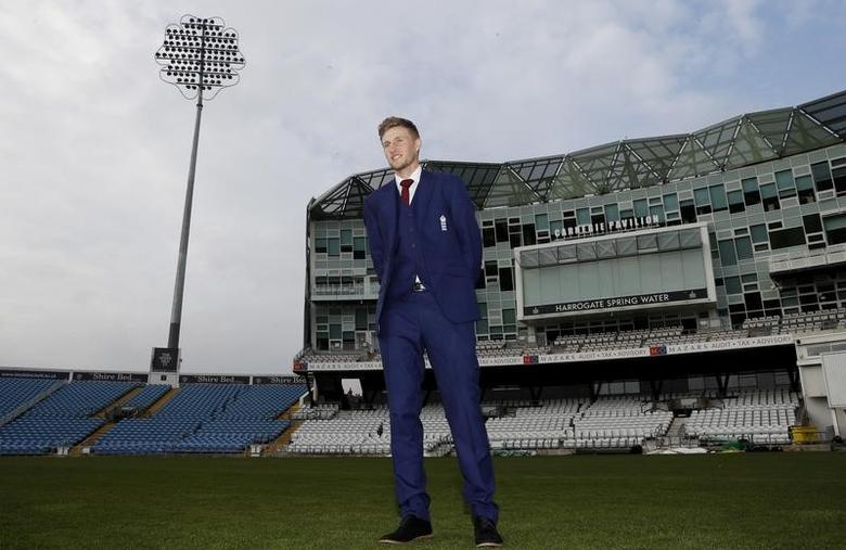 Britain Cricket - England - Joe Root Press Conference - Headingley - 15/2/17 England's Joe Root poses ahead of the press conference Action Images via Reuters / Lee Smith Livepic/Files