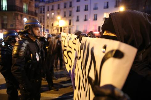 Tensions flare in Paris