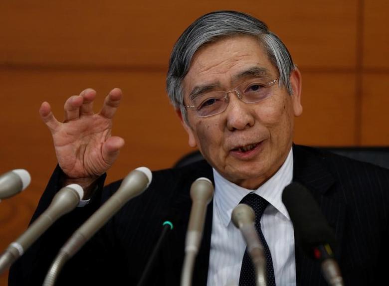 Bank of Japan (BOJ) Governor Haruhiko Kuroda attends a news conference at the BOJ headquarters in Tokyo, Japan January 31, 2017.   REUTERS/Toru Hanai/Files