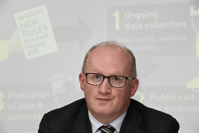 2月17日、ECB理事会メンバーのフィリップ・レーン氏(写真)は、米ウォール・ストリート・ジャーナル紙に対し、ECBは、経済を支える準備があることを示すために、たとえ可能性が低くても、利下げという選択肢を手放す必要はないと述べた。写真はダブリンで2016年11月撮影(2017年 ロイター/Clodagh Kilcoyne)
