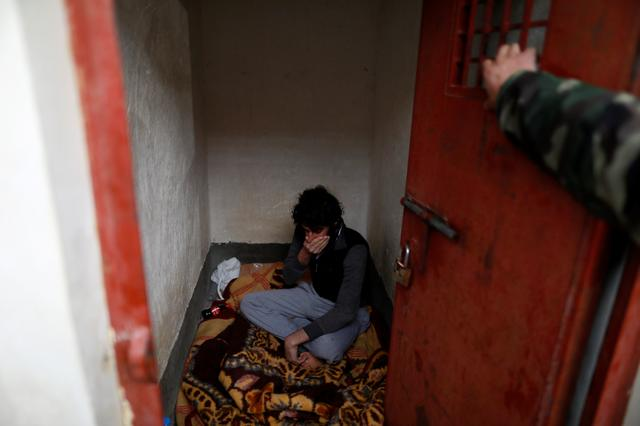 Ghaffar Abdel Rahman, 33, an Islamic State member, sits at his prison cell in Sulaimaniya, Iraq February 15, 2017.  REUTERS/Zohra Bensemra