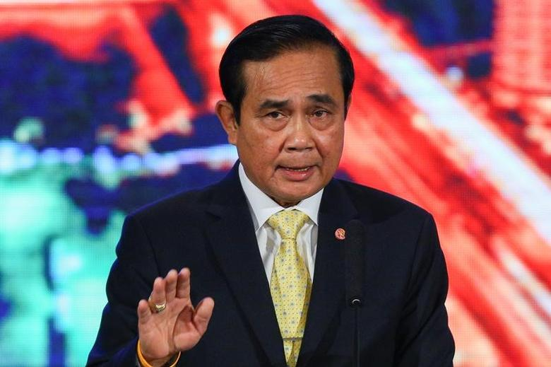 Thailand's Prime Minister Prayuth Chan-ocha speaks during an announcement the junta's two year accomplishments at Government House in Bangkok, Thailand, September 15, 2016. REUTERS/Athit Perawongmetha