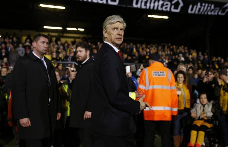 Britain Football Soccer - Sutton United v Arsenal - FA Cup Fifth Round - The Borough Sports Ground - 20/2/17 Arsenal manager Arsene Wenger before the match Action Images via Reuters / Andrew Couldridge Livepic