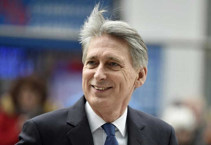 Britain's Chancellor of the Exchequer Philip Hammond  arrives at the National Cyber Security Centre in London, Britain, February 14, 2017. REUTERS/Hannah McKay