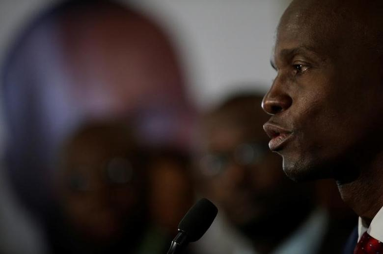 Haitian President Jovenel Moise speaks during a news conference at Toussaint Louverture International airport in Port-au-Prince, Haiti, February 17, 2017. REUTERS/Andres Martinez Casares