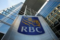 A Royal Bank of Canada (RBC) sign is seen outside of a branch in Ottawa, Ontario, Canada, May 26, 2016. REUTERS/Chris Wattie/File Photo