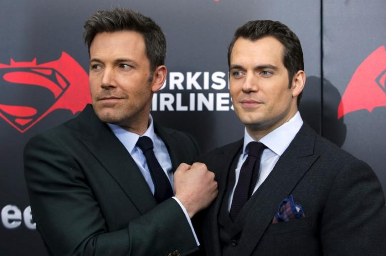 Cast members Ben Affleck (L ) and Henry Cavill attend New York premiere ''Batman V Superman: Dawn Of Justice'' at Radio City Music Hall in New York, March 20, 2016. REUTERS/Eduardo Munoz/File Photo