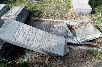 Another Jewish cemetery vandalized