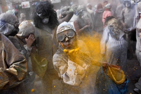 Flour wars of carnival