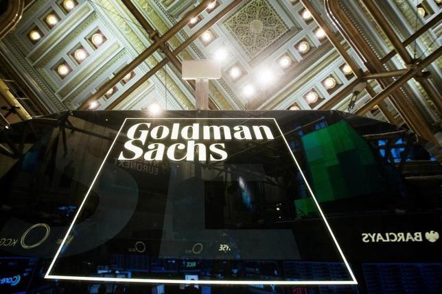 2月27日、米金融大手ゴールドマン・サックス英ロンドンに110万平方フィートのオフィスを建設していることが、規制当局への提出資料で分かった。ニューヨーク証券取引所で2014年1月撮影(2017年 ロイター/Lucas Jackson/File Photo)