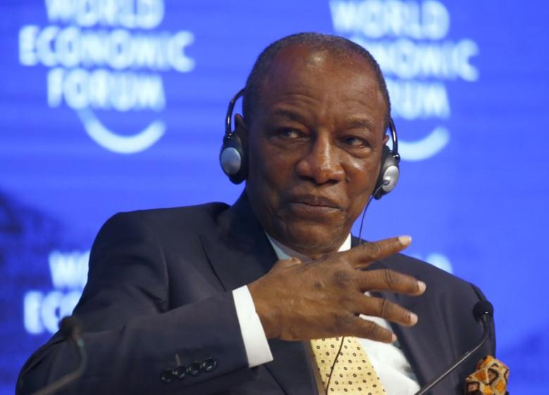 Alpha Conde, President of Guinea attends the World Economic Forum (WEF) annual meeting in Davos, Switzerland January 19, 2017.  REUTERS/Ruben Sprich