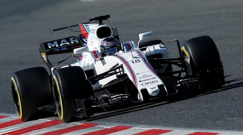 Formula One - F1 - Test session - Barcelona-Catalunya racetrack in Montmelo, Spain - 1/3/17. Lance Stroll of Williams Martini Racing in action. REUTERS/Albert Gea