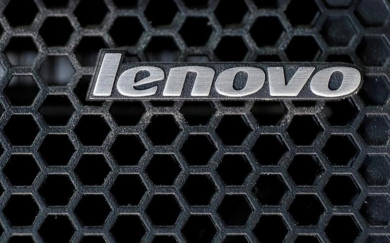 A Lenovo logo is seen at the computer in Kiev, Ukraine April 21, 2016. REUTERS/Gleb Garanich/File Photo