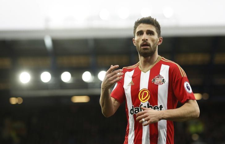Britain Football Soccer - Everton v Sunderland - Premier League - Goodison Park - 25/2/17 Sunderland's Fabio Borini  Action Images via Reuters / Carl Recine Livepic