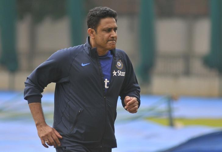 India Cricket - India practice session Bengaluru, India - 30/06/16. India's newly appointed cricket coach Anil Kumble attends a practice session. REUTERS/Abhishek N. Chinnappa/Files