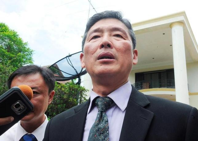 3月2日、マレーシア滞在中の北朝鮮当局者は、クアラルンプール国際空港で死亡した北朝鮮国籍の男性は、心臓発作が原因で亡くなった可能性が強いと述べた。写真はリ・ドンイル前国連次席大使、クアラルンプールで2月撮影(2017年 ロイター)