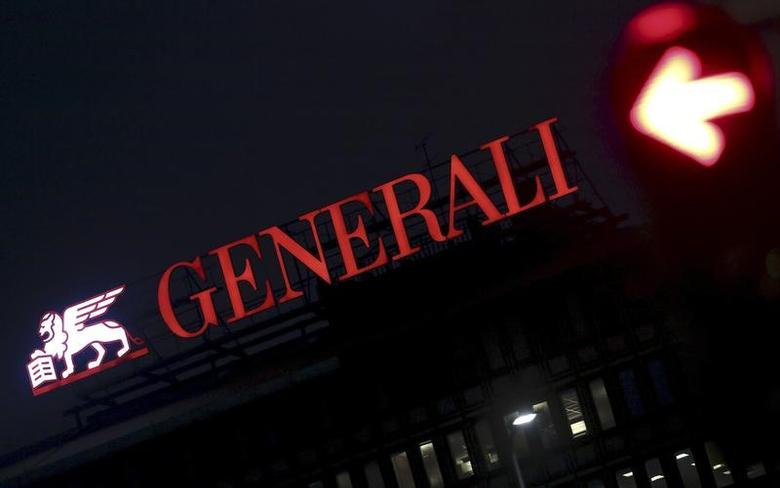 The Assicurazioni Generali logo is seen in downtown Milan, Italy, February 8, 2016. REUTERS/Stefano Rellandini/File Photo