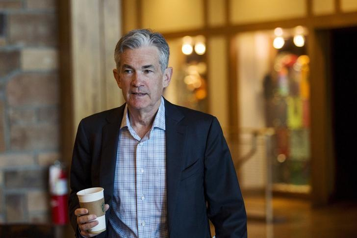 FILE PHOTO: Federal Reserve Governor Jerome Powell attends the Federal Reserve Bank of Kansas City's annual Jackson Hole Economic Policy Symposium in Jackson Hole, Wyoming August 28, 2015. REUTERS/Jonathan Crosby