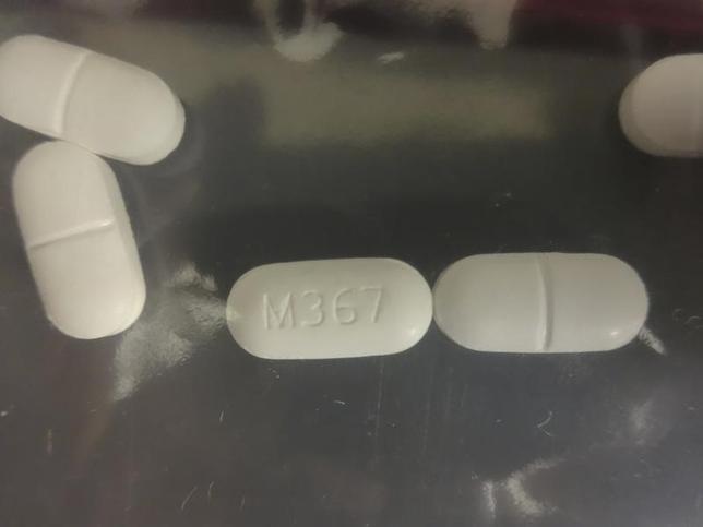 3月2日、米国務省のブラウンフィールド次官補(麻薬犯罪取締担当)は、麻薬流入を防ぐには、メキシコとの協力が重要と強調した。写真は鎮痛薬ヒドロコドン。北カリフォルニア州で多発するフェンタニルの過剰摂取の調査で押収されたもの。昨年4月米麻薬取締局提供(2017年 ロイター)