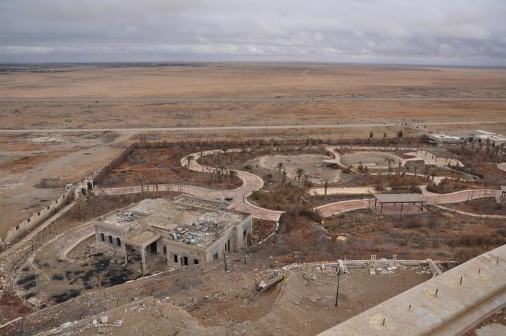 A general view shows a palace complex, which has been recaptured from Islamic State militants, on the edge of Palmyra in this handout picture provided by SANA on March 2, 2017, Syria. SANA/Handout via REUTERS