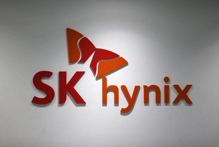 The logo of SK Hynix is seen at its headquarters in Seongnam, South Korea, April 25, 2016. REUTERS/Kim Hong-Ji/File Photo
