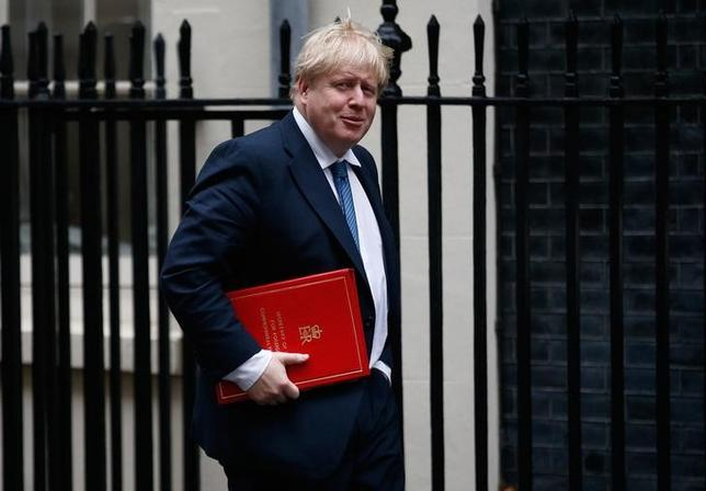 FILE PHOTO - Britain's Foreign Secretary Boris Johnson arrives for a cabinet meeting in Downing Street, London, January 31, 2017. REUTERS/Peter Nicholls/File Photo