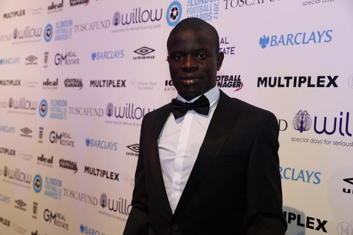 Britain Football Soccer - London Football Awards 2017 - Battersea Evolution - 2/3/17 N'Golo Kante before the London Football Awards 2017  Mandatory Credit: Action Images / John Sibley Livepic