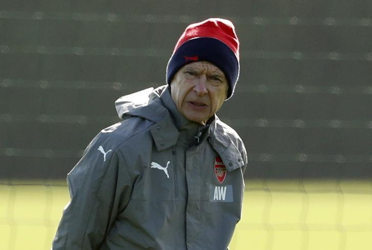 Britain Football Soccer - Arsenal Training - Arsenal Training Ground - 6/3/17 Arsenal manager Arsene Wenger during training Action Images via Reuters / John Sibley Livepic