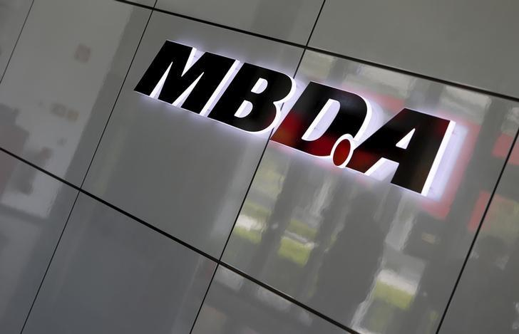 European Defense Group MBDA's company logo is pictured in Schrobenhausen near Ingolstadt, Germany, June 25, 2015.   REUTERS/Michaela Rehle