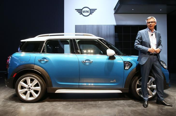 FILE PHOTO - Peter Schwarzenbauer, memeber of the Board of Management of BMW AG, introduces the 2017 Mini Countryman, all-wheel drive version, at the 2016 Los Angeles Auto Show in Los Angeles, California, U.S November 16, 2016.  REUTERS/Lucy Nicholson