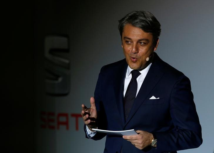 SEAT's President and CEO Luca de Meo speaks during the launching of the new Seat Ibiza (5th generation) in Barcelona, Spain January 31, 2017. REUTERS/Albert Gea