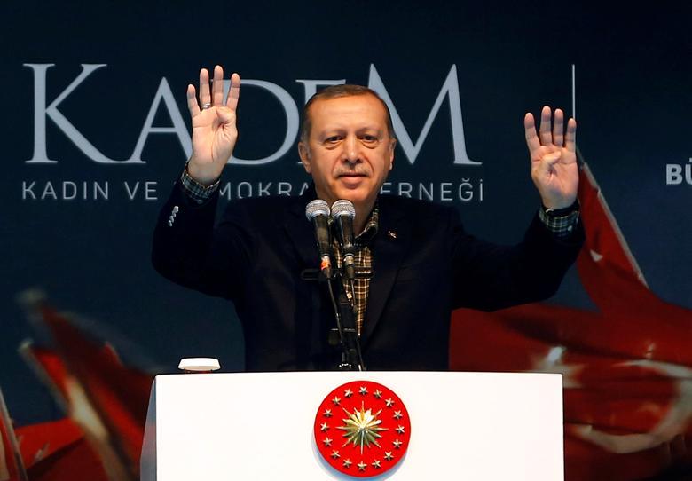 Turkish President Tayyip Erdogan  in Istanbul, Turkey, March 5, 2017. REUTERS/Murad Sezer