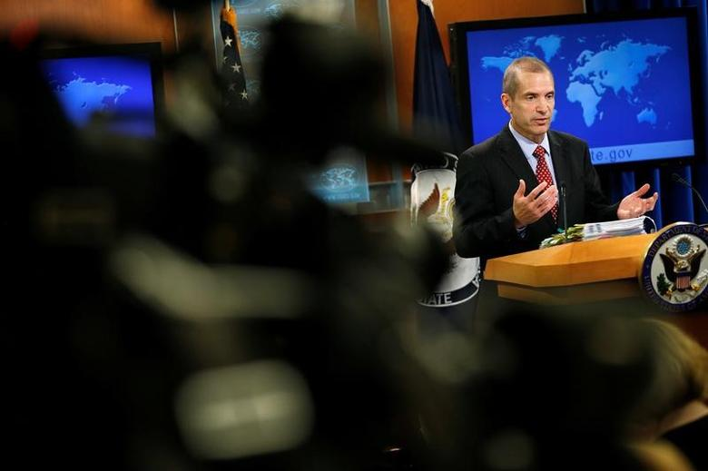 Acting State Department Spokesperson Mark Toner speaks during a news briefing at the State Department in Washington, U.S., March 7, 2017.      REUTERS/Joshua Roberts
