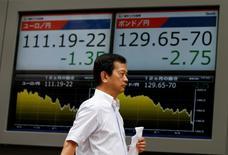 La Bourse de Tokyo a fini en baisse mercredi. L'indice Nikkei a perdu 0,47%. /Photo d'archives/REUTERS/Issei Kato