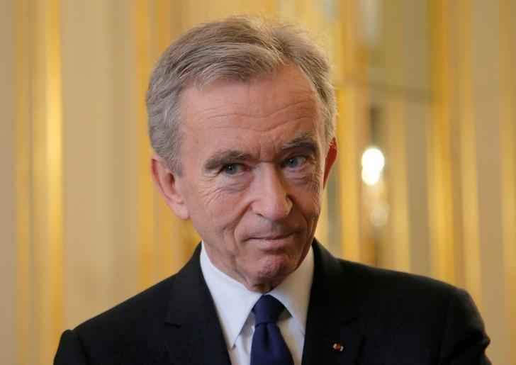 Chairman and CEO of LVMH Bernard Arnault attends the global tech conference Viva Technology at the Elysee Palace in Paris, France, February 21, 2017. REUTERS/Michel Euler/Pool
